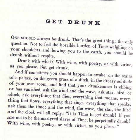 Get Drunk by Baudelaire