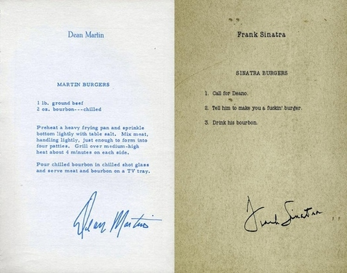 How Frank Sinatra and Dean Martin make hamburgers