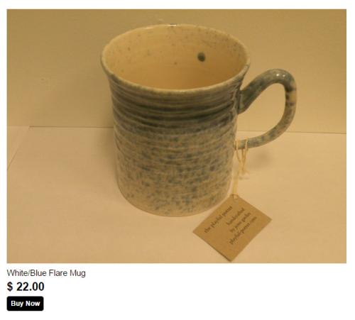 blue white mug