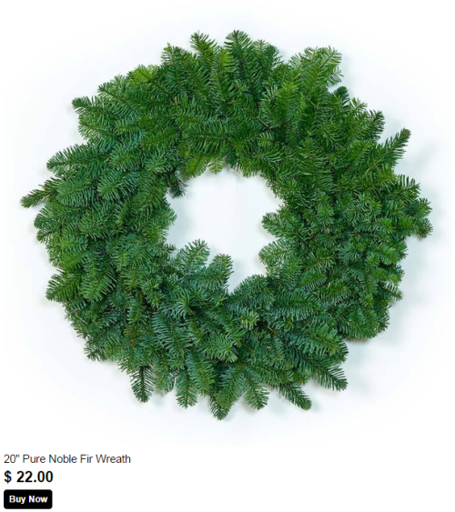 20 inch pure noble fir wreath