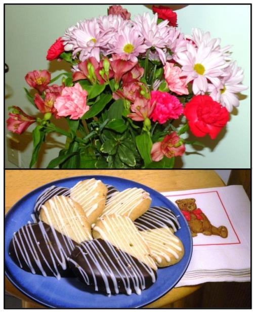 flowers n cookies